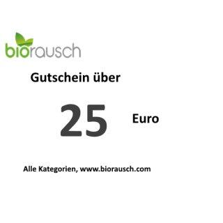 25 Euro Gutschein: biorausch.com