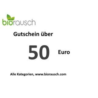 50 Euro Gutschein: biorausch.com