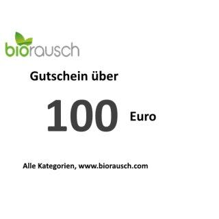 100 Euro Gutschein: biorausch.com