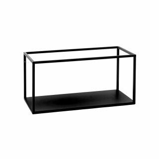 Pomax - ESZENTIAL - Regal/Gestell Rack - metall, schwarz (L60xB30xH30,5cm)