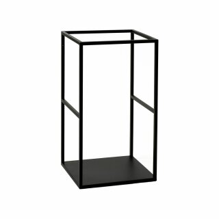 Pomax - ESZENTIAL - Regal/Gestell Rack - Metall, schwarz (L34,5XB30XH60cm)