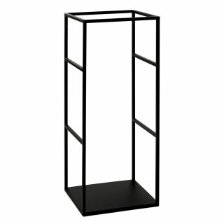 Pomax - ESZENTIAL - Regal/Gestell Rack, Metall, schwarz (L34,5XB30XH80cm)