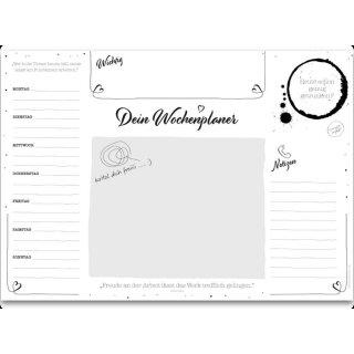 UNPERFEKT PERFEKT - Schreibtischunterlage - A2, 50 Blatt