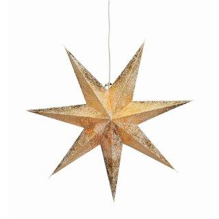 G. Wurm - Leuchtstern mit 7 Zacken crema gold