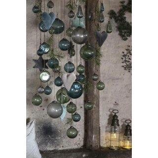 IB Laursen ApS -Weihnachtskugel pebbled Glas petrol