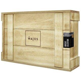 WAJOS - Whisky Set in Holzkiste + Glas
