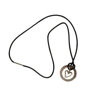 UNPERFEKT PERFEKT - Halskette mit Silberherz und Unperfekt Ring Handarbeit