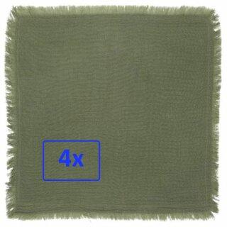 IB Laursen ApS - Stoff-serviette (Baumwolle, doppelt gewebt) grün (4 Stück)