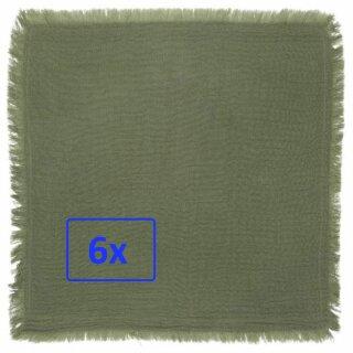 IB Laursen ApS - Stoff-serviette (Baumwolle, doppelt gewebt) grün (6 Stück)