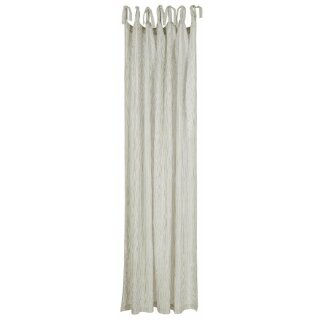 IB Laursen - Vorhang weiss mit schwarzen Streifen (7 Schlaufen, 140x220cm)