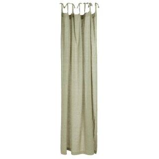IB Laursen - Vorhang, staubig grün (7 Schlaufen, 140x220cm)