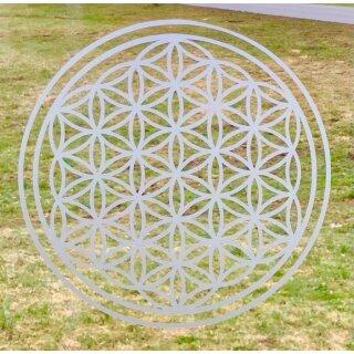 UNPERFEKT PERFEKT - Fensterfolie - Blume des Lebens - Lebensblume - Die Verbundenheit  26,5 in Milchglas