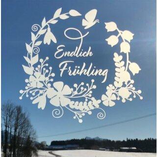 UNPERFEKT PERFEKT - Fensterfolie -Endlich Frühling - 26,5 cm
