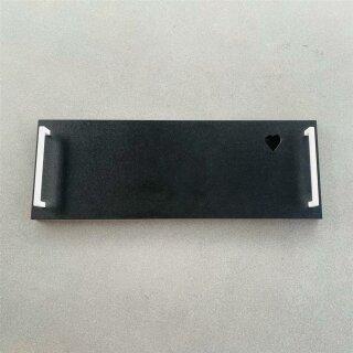 UNPERFEKT PERFEKT - Brotzeitbrett schwarz weiss 50x18x2cm