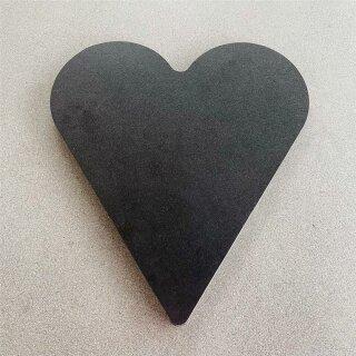 UNPERFEKT PERFEKT - Brotzeitbrett Herz - Brett zum beschriften oder aufstellen 22x22cm