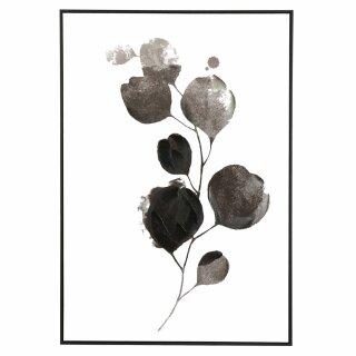 """Pomax - Leinwand """"Flor"""" mit Rahmen schwarz/weiß"""