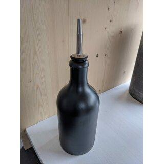 UNPERFEKT PERFEKT - Flaschenausgießer schwarz/silber für Öle, Essig, Wein