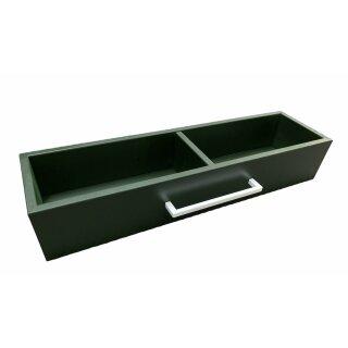 UNPERFEKT PERFEKT - Holz- Küchenaufbewahrung grün Schublade
