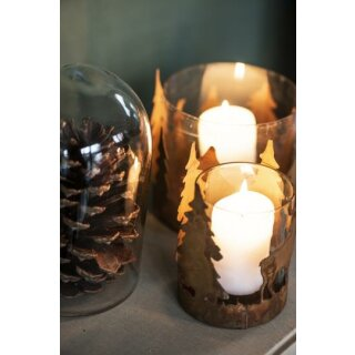 IB Laursen ApS - Kerzenhalter f/Teelicht m/Bäumen aus Metall groß