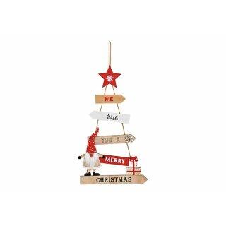 """Anhänger """"Christmas"""" (Holz, B/H 27x47cm)"""