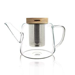 Biorausch - Glas Teekanne Borosilicat-Glas 680ml