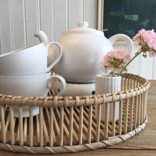Biorausch - Teekanne PLINT 1500 ml weiß